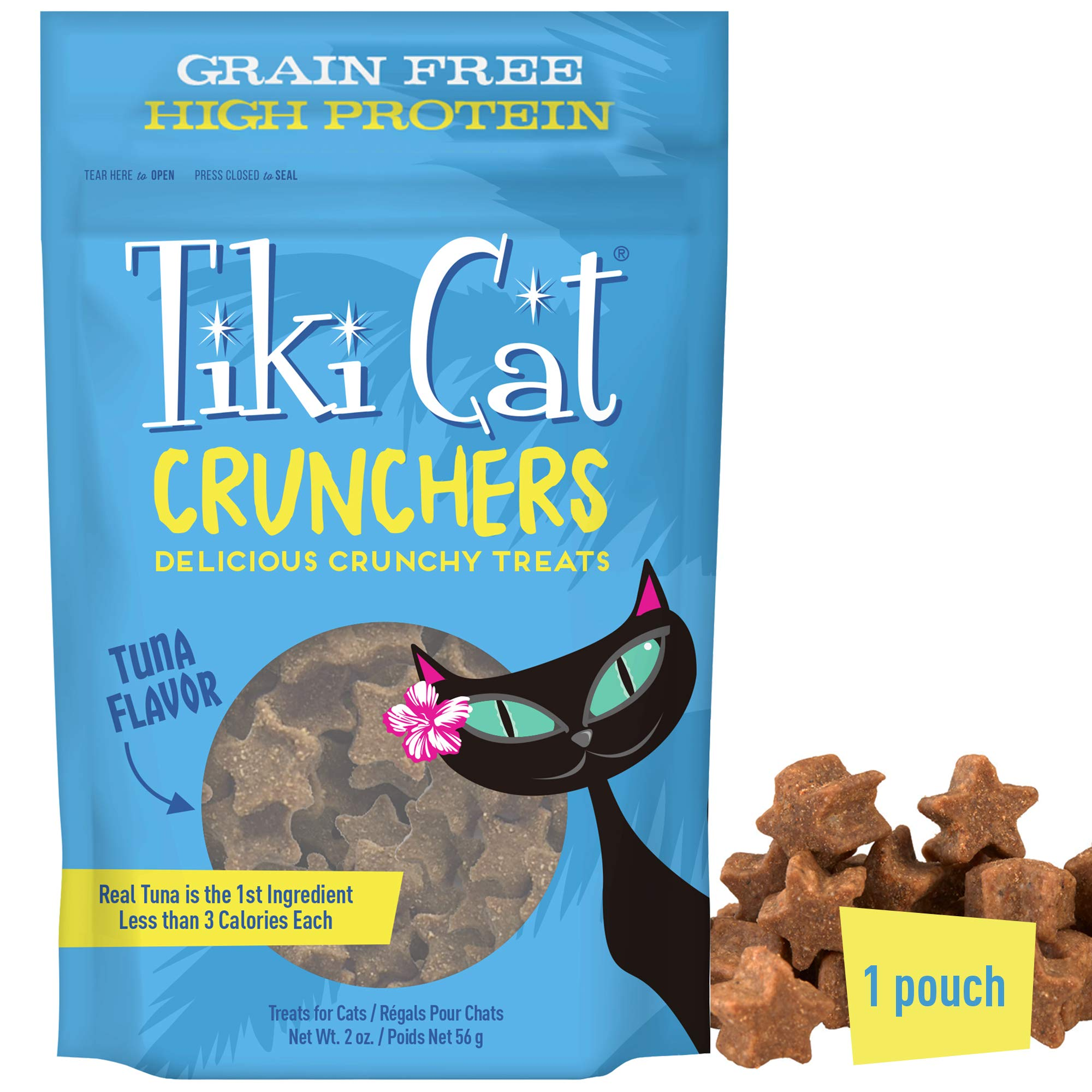 Tiki Cat Crunchers Meat-First Treats for Cats