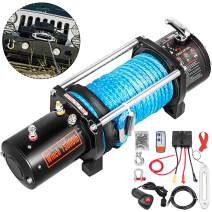 VEVOR Truck Winch 13000LBS, Electric Winch Synthetic Rope 12V, Power Winch Jeep Winch with Wireless Remote Control and Powerful Motor for UTV, ATV, Jeep Truck and Wrangler Accessories in Car Lift