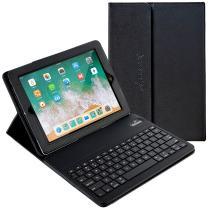 iPad Case with Keyboard, 9.7 inch Alpatronix KX130 Leather iPad Cover w/Detachable Wireless Bluetooth Keyboard Compatible w/Apple iPad 6 (2018)/iPad 5 (2017)/iPad Pro 9.7 & iPad Air 2&1-Black