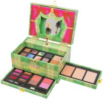 Christmas New Year Special Offer Jumbl Carry All Musical Colors Make up Kit - Included 12 Eyeshadows 3 Eyebrow Powders 1 Shimmer Face Powder 3 Face Powders 2 Blushes 6 Lip Colors and Applicators -Jumbl Brush and Mirror Included (Green)