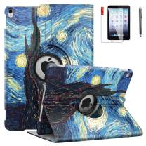 iPad Mini Case with Bonus Screen Protector and Stylus - iPad Mini 3/2/1 Case Cover - 360 Degree Rotating Stand with Auto Sleep/Wake for Mini 1st/ 2nd/ 3rd Generation - A1599 A1600(Starry Night)