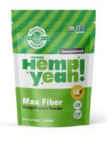 Manitoba Harvest Hemp Yeah! Organic Max Fiber Protein Powder, Unsweetened, 32oz; with 13g of Fiber, 13g Protein and 2.5g Omegas 3&6 per Serving, Keto-Friendly, Preservative Free, Non-GMO