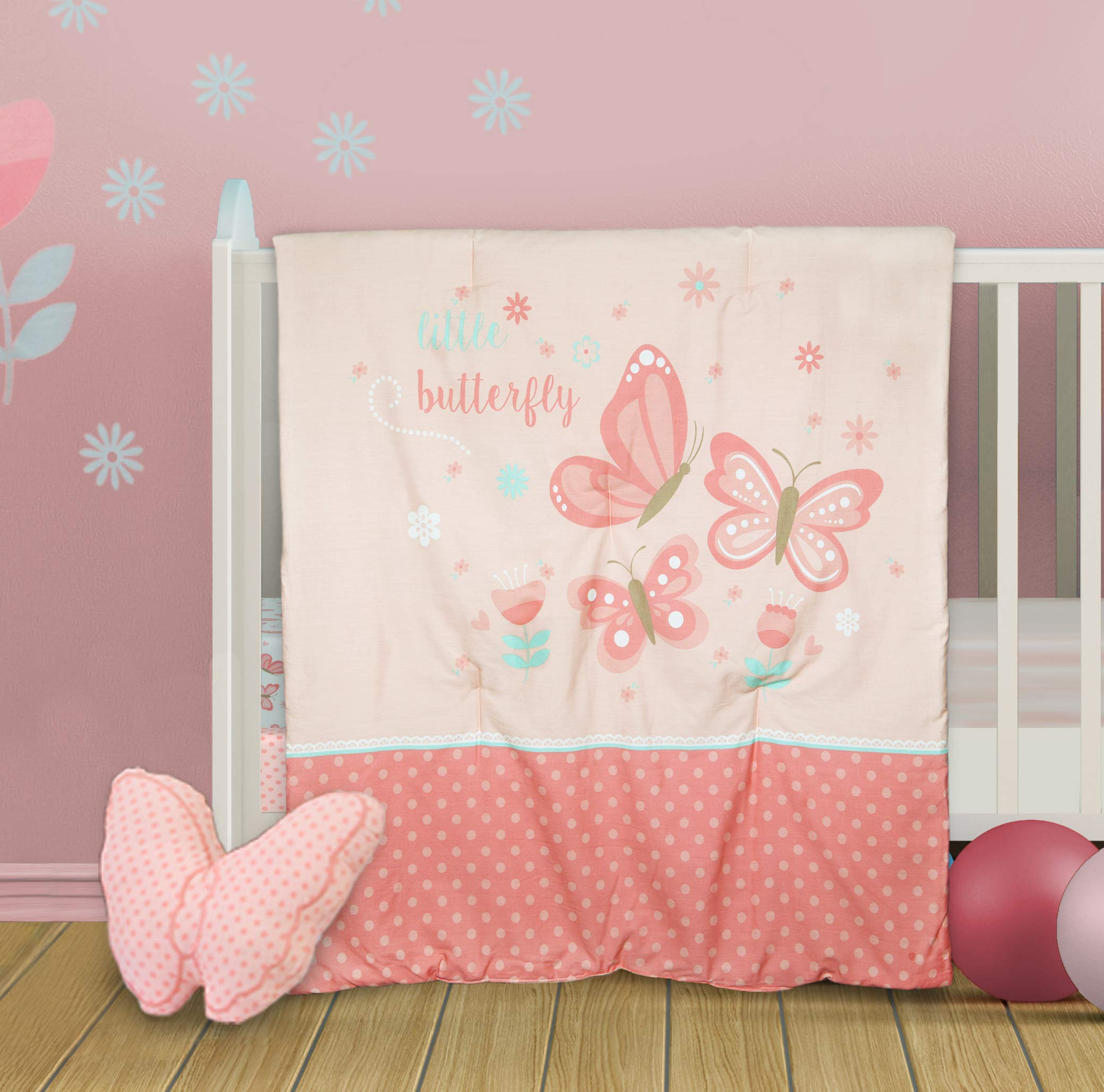 Fits Standard Crib Mattress Wildkin Microfiber Fitted Crib Sheet For Infant Olive Kids Butterfly Garden Includes One Fitted Crib Sheet Measures 52 x 28 Inches Toddler Boys and Girls BPA-free