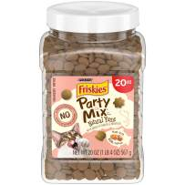 Friskies Party Mix Natural YUMS All Natural Adult Cat Treats 20 oz. & 30 oz. Canisters