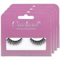 Cuckoo Eyelashes 3D Faux Mink Lashes 15mm Natural False Eyelashes 4 Pairs/set 100% Handmade Luxurious Volume Fluffy Lashes Dramatic Cuckoo 304