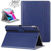 """Ztotop Case for iPad Air 10.5"""" (3rd Gen) 2019/iPad Pro 10.5"""" 2017, [360 Degree Rotating/Genuine Leather] Business Folio Multi-Angle Viewing Stand Cover with Auto Wake/Sleep, Blue"""