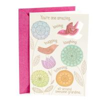 Hallmark Mother's Day Card for Grandma (Felt Bird Magnet)