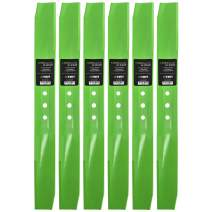 8TEN LawnRAZOR Medium-Lift Blade for Toro Recyclers Steel Decks 108-9764-03 104-8697-03 131-4547-03 22 Inch 6 Pack