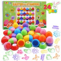 JOYIN 24Pcs Easter Egg Stampers Great Easter Toys for Easter Eggs Hunt Game, Easter Theme Party, Easter Egg Stuff, Easter Basket Stuffers Fillers, Easter Stamps Gifts, Classroom Prize