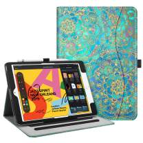 "Fintie Case for New iPad 7th Generation 10.2 Inch 2019 - [Corner Protection] Multi-Angle Viewing Folio Smart Stand Back Cover with Pocket, Pencil Holder, Auto Wake/Sleep for iPad 10.2"", Shades of Blue"