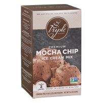 Triple Scoop Ice Cream Mix, Premium Chocolate Mocha Chip, starter for use with home ice cream maker, non-gmo, no artificial colors or flavors, ready in under 30 mins, makes 2 qts (1 15oz box)