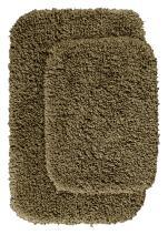 Garland Rug 2-Piece Serendipity Shaggy Washable Nylon Bathroom Rug Set, Taupe