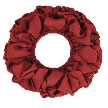 VHC Brands Christmas Holiday Decor Round, 20 x 20, Burlap Wreath Red