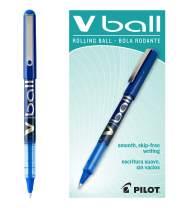 PILOT VBall Liquid Ink Rolling Ball Stick Pens, Fine Point, Blue Ink, 12 Count (35113)