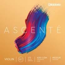 D'Addario Ascenté Violin String Set, 1/2 Scale, Medium Tension