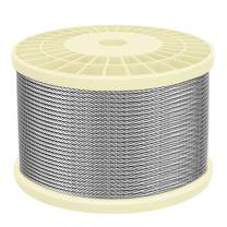 """IZOKIN 1/8"""" 316 Stainless Steel Wire Rope Aircraft Cable for Deck Cable Railing Kit DIY Balustrade Handrail Cable,7x7 350ft"""
