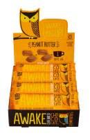 Awake Caffeinated Chocolate Energy Bar, Peanut Butter, 12 Count