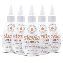 NatriSweet Stevia Liquid Drops Toffee Flavor -5 Pak - (2 fl oz / 60 Milliliter)
