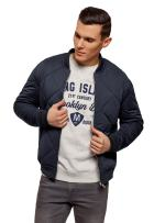 oodji Ultra Men's Zipper Bomber Jacket