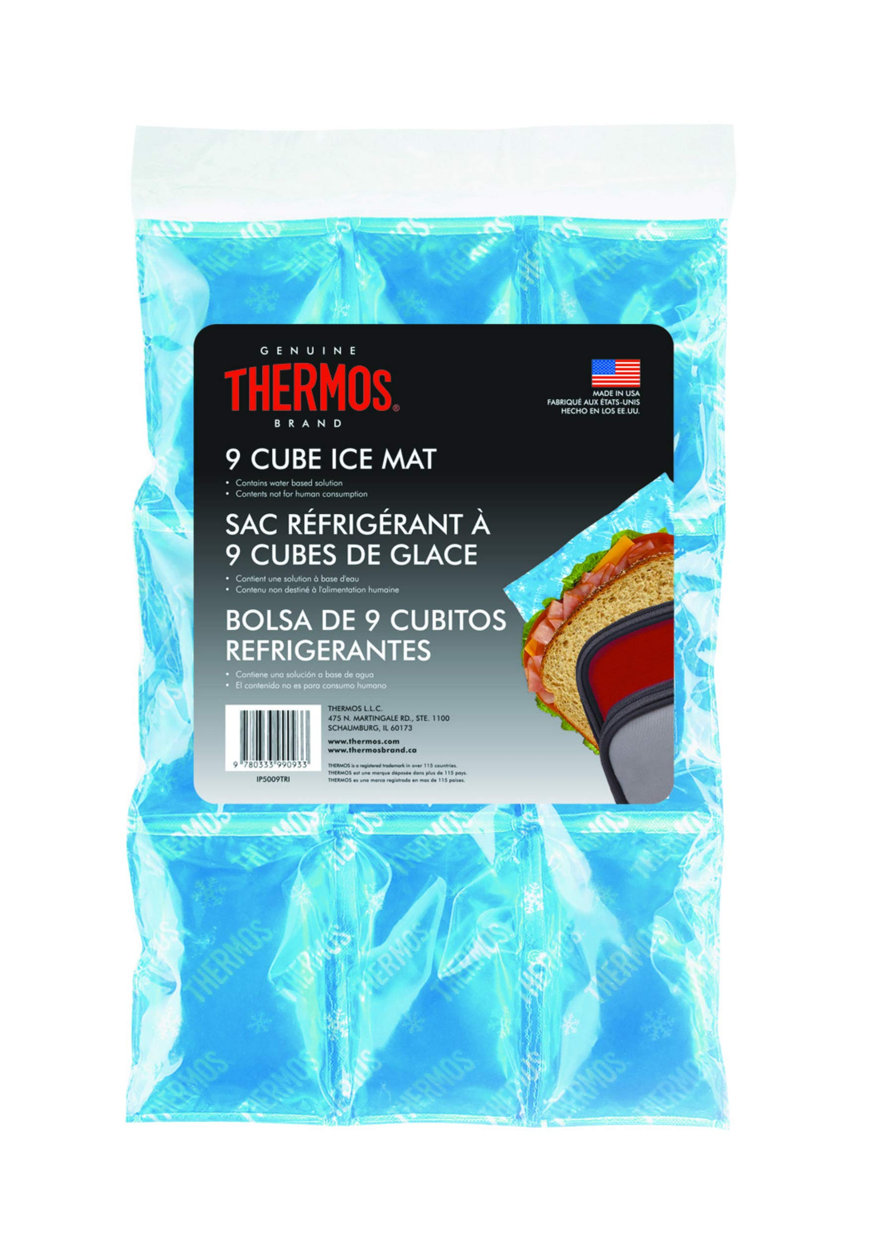 Thermos Ice Mat, 9 Cube, Blue