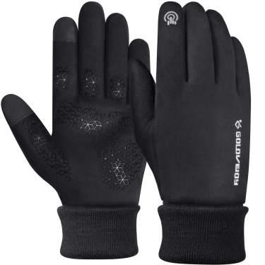 Warm Winter Mountain Bike Gloves for Men Mens Neoprene Gloves Full Finger Biking Gloves for Men Cold Weather Bicycle Gloves Gel Shock-Absorbing Riding Gloves Black Pad for Women Road Bike Gloves