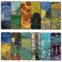 Loving Vincent Van Gogh Inspirational Quotes Bookmarks (60-Pack) - Starry Night Sunflowers Almond Blossom Bookmarker – Stocking Stuffers Gift for Men Women Adult Teens Thanksgiving Christmas New Year