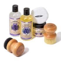 CLARK'S Complete Cutting Board Care Kit   Cutting Board Oil (12oz) - Soap (12oz) - Finish Wax (6oz) - Applicator - Scrub Brush - Finishing Pad   Lavender & Rosemary