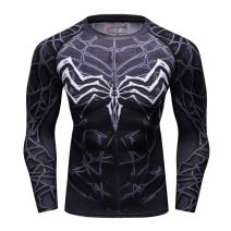 Red Plume Men's Compression Sports Fitness T-Shirt/Men's Long Sleeve Tee/Men's T-Shirt for Sports and Fitness
