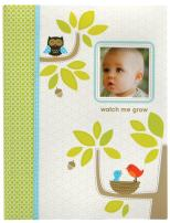 C.R. Gibson Green and White Woodland Animal First Year Baby Memory Book for Newborns, 60 pgs, 9'' W x 11.13'' H