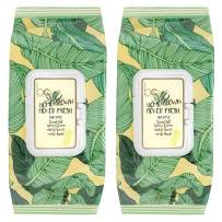 Beauty Concepts -2 Pack (60 Count Each) Pineapple with Aloe & Vitamin C Home Grown Picked Fresh Detoxifying Wipes