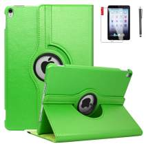 iPad 5th 6th Generation Case - iPad 9.7 inch 2018 2017 Cover - 360 Degree Rotating Stand, Screen Protector, Waterproof, Shockproof, Auto Sleep Wake - A1893 A1954 A1822 A1823 (A91_Light Green)