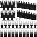 Leberna 50 Metal Wood Universal Oscillating Multitool Quick Release Saw Blades Kit Compatible w Fein Multimaster Porter Cable Black&Decker Bosch Dremel Craftsman Ridgid Ryobi Milwaukee Dewalt Rockwell