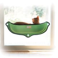K&H PET PRODUCTS EZ Mount Window Bed Kitty Sill - Mounts to Virtually Any Glass Window or Door, Multiple Colors