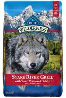 Blue Buffalo Wilderness Snake River Grill High Protein Grain Free, Natural Dry Dog Food with Trout, Venison & Rabbit