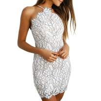 Shy Velvet Women's Sleeveless Lace Floral Bodycon Dress for Party Cocktail Dress