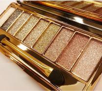 Zinnor 9 Colors Shimmer Eyeshadow-Eye Shadow Palette & Makeup Brush & Mirror Set-Women Cosmetic Diamond Bright Colorful Makeup Glitter Waterproof Eye Shadow Palette Set Eyeshadow Powder