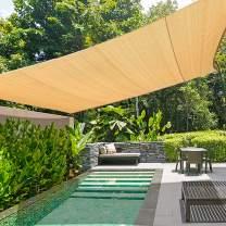 KANAGAWA Sun Shade Sail Triangle UV Block Canopy Dark Grey Cover for Patio Backyard Lawn Garden Outdoor Activities (16'x20', Sand)