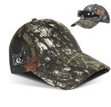 Men's Hunting Fishing Hat Camo Series Adjustable Mesh Ball Cap 3D Embroidered