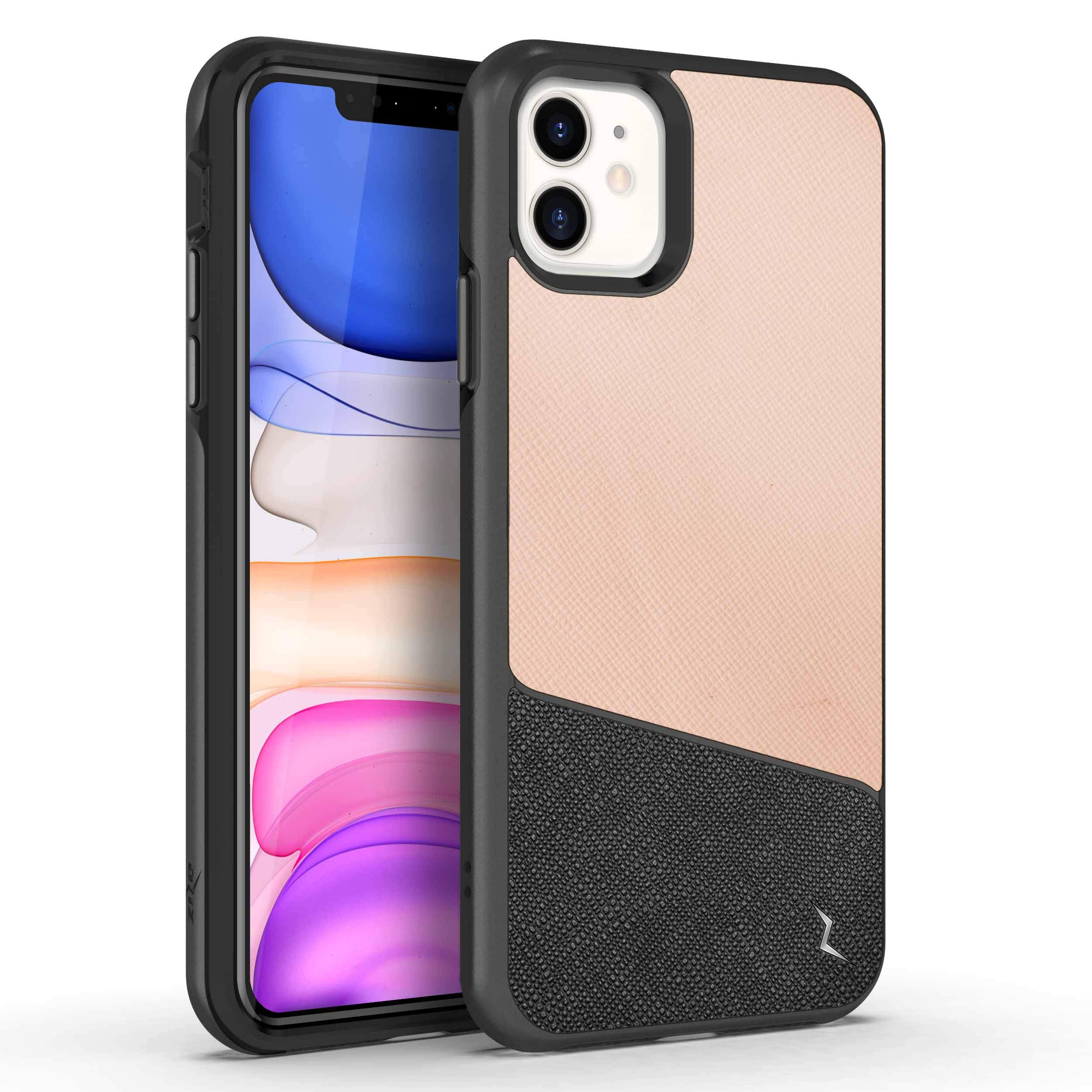 ZIZO Division Series for iPhone 11 Case - Military-Grade Protection with Heavy-Duty Shock Absorbtion - Saffiano Blush