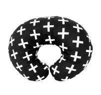 Premium Quality Nursing Pillow Cover by Mila Millie - Nordic Swiss White Cross Unisex Design Slipcover - 100% Cotton Hypoallergenic - Perfect for Breastfeeding Mothers - Baby Shower Gift