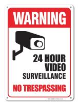 Video Surveillance Sign, No Trespassing Sign, 10x14 Heavy 0.40 Aluminum, Weather/Fade Resistant, Easy Mounting, Indoor/Outdoor Use, Made in USA By SIGO SIGNS