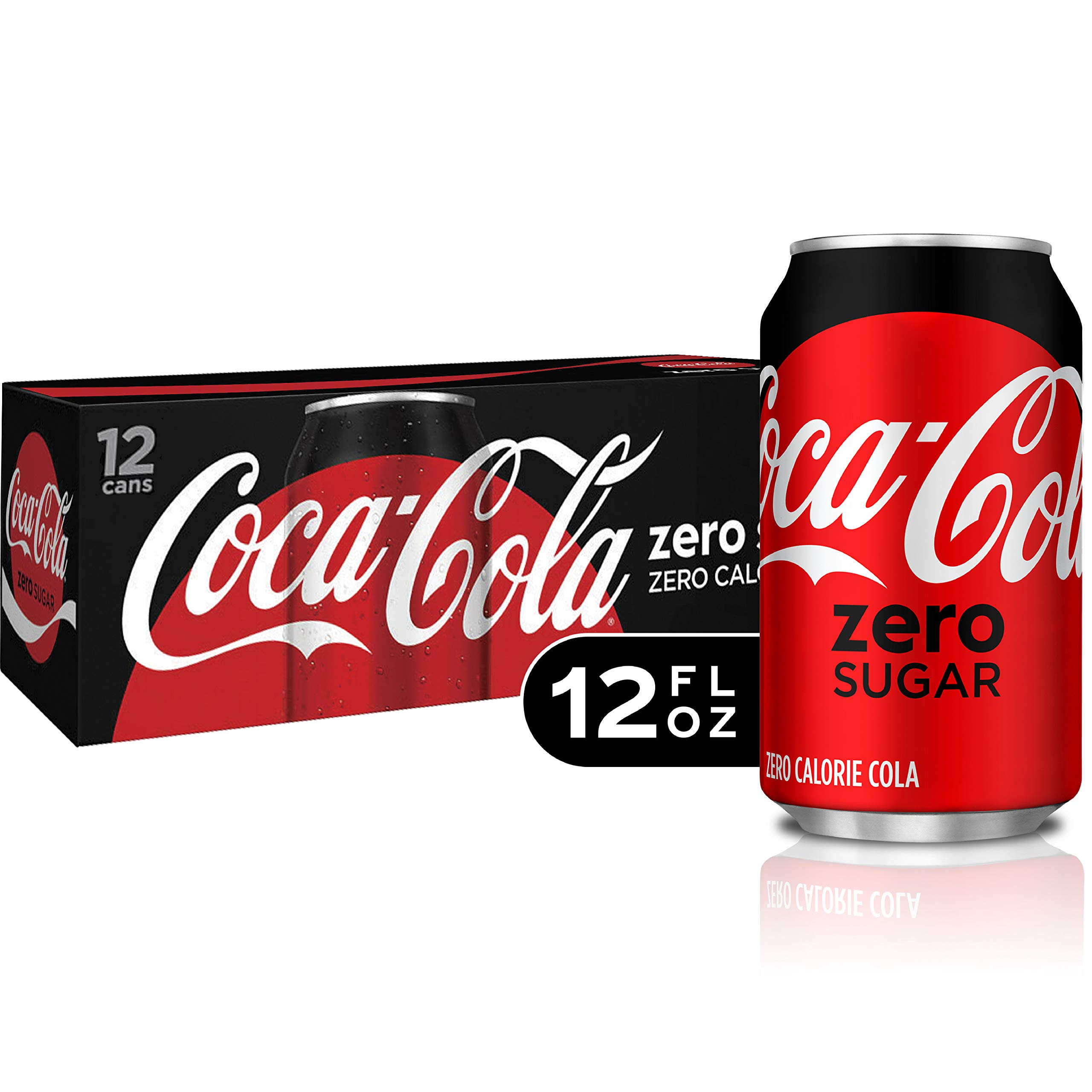 Coke Zero Sugar Diet Soda Soft Drink, 12 fl oz, 12 Pack