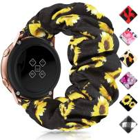 Huishang 20mm 22mm Quick Release Watch Bands, Elastic Scrunchie Watch Band for Women(Sunflower,20/22mm)