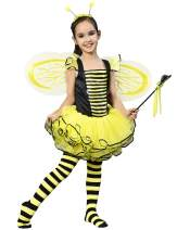 IKALI Bumble Bee Costume, Princess Fancy Dress Up(Tutu, Wings, Antenna)