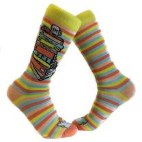 I'm All Booked Up Socks Funny Reading Books Teacher Footwear