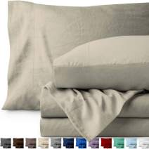 Bare Home Queen Sheet Set - Premium 1800 Ultra-Soft Microfiber Bed Sheets - Double Brushed - Hypoallergenic - Stain Resistant (Queen, Sandwashed Fog)