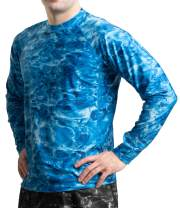 Aqua Design Rash Guard Men: UPF 50+ Long Sleeve Rashguard Swim Shirts for Men