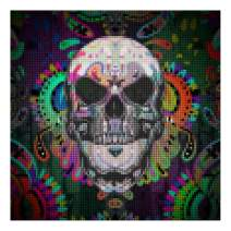 """5D Diamond Painting Kits for Adults by BANLANA, DIY Cross Stitch Crystal Rhinestone Embroidery Pictures Art Kit with Premium Tools, 12"""" by 12"""" Arts Craft for Home Wall Decor (Evil Skull)"""