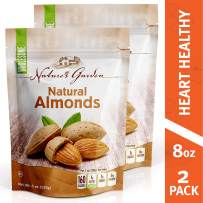 Nature's Garden Almonds Natural Raw - 8 oz. (Pack of 2)