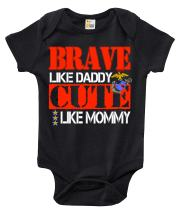 Rapunzie Baby Bodysuit - Brave Like Daddy Cute Like Mommy Marines Baby Clothes for Infant